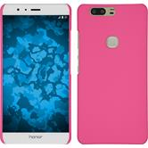 Hardcase for Huawei Honor V8 rubberized hot pink