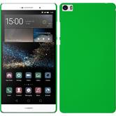 Hardcase for Huawei P8max rubberized green