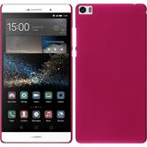 Hardcase for Huawei P8max rubberized hot pink