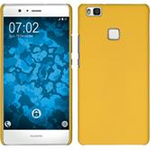Hardcase for Huawei P9 Lite rubberized yellow