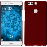 Hardcase for Huawei P9 Plus rubberized red