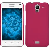 Hardcase for Huawei Y360 rubberized hot pink