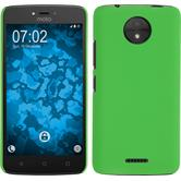 Hardcase Moto C rubberized green + protective foils