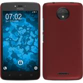 Hardcase Moto C rubberized red + protective foils
