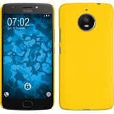 Hardcase Moto E4 Plus (EU Version) rubberized yellow + protective foils
