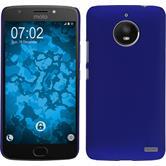 Hardcase Moto E4 (EU Version) rubberized blue + protective foils