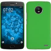 Hardcase Moto E4 (EU Version) rubberized green + protective foils
