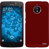 Hardcase Moto E4 (EU Version) rubberized red + protective foils