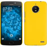 Hardcase Moto E4 (EU Version) rubberized yellow + protective foils