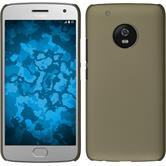 Hardcase Moto G5 Plus rubberized gold