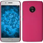 Hardcase Moto G5 Plus rubberized pink