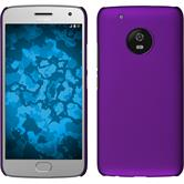 Hardcase Moto G5 Plus rubberized purple