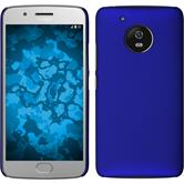 Hardcase Moto G5 rubberized blue