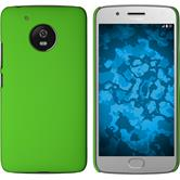 Hardcase Moto G5 rubberized green