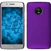 Hardcase Moto G5 rubberized purple