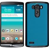 Hardcase for LG G3 leather optics turquoise