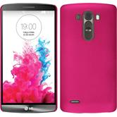 Hardcase for LG G3 rubberized hot pink