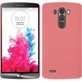Hardcase for LG G3 rubberized pink