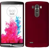 Hardcase for LG G3 rubberized red