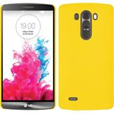 Hardcase for LG G3 rubberized yellow