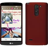 Hardcase for LG G3 Stylus rubberized red