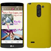 Hardcase for LG G3 Stylus rubberized yellow