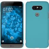 Hardcase for LG G5 rubberized light blue