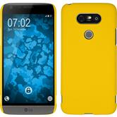 Hardcase for LG G5 rubberized yellow