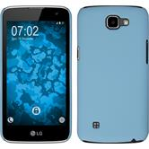 Hardcase for LG K4 rubberized light blue