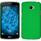 Hardcase for LG K5 rubberized green