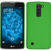 Hardcase for LG K7 rubberized green