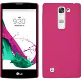 Hardcase for LG Magna rubberized hot pink