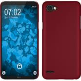Hardcase Q6 rubberized red + protective foils