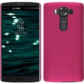 Hardcase for LG V10 rubberized hot pink