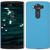 Hardcase for LG V10 rubberized light blue
