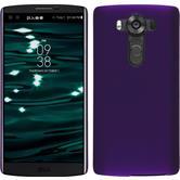 Hardcase for LG V10 rubberized purple