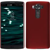 Hardcase for LG V10 rubberized red