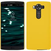 Hardcase for LG V10 rubberized yellow