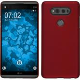 Hardcase for LG V20 rubberized red