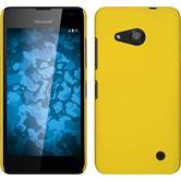 Hardcase for Microsoft Lumia 550 rubberized yellow