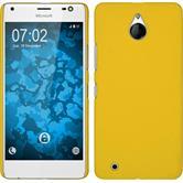 Hardcase for Microsoft Lumia 850 rubberized yellow