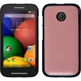 Hardcase for Motorola Moto E leather optics pink
