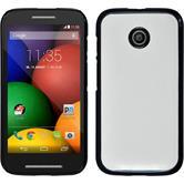 Hardcase for Motorola Moto E leather optics white