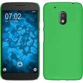Hardcase for Motorola Moto G4 Play rubberized green