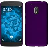 Hardcase for Motorola Moto G4 Play rubberized purple