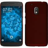 Hardcase for Motorola Moto G4 Play rubberized red