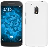 Hardcase for Motorola Moto G4 Play rubberized white