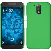 Hardcase for Motorola Moto G4 Plus rubberized green