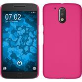 Hardcase for Motorola Moto G4 Plus rubberized hot pink