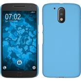 Hardcase for Motorola Moto G4 Plus rubberized light blue